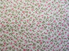 Floral 100% Cotton Fabric in Pink